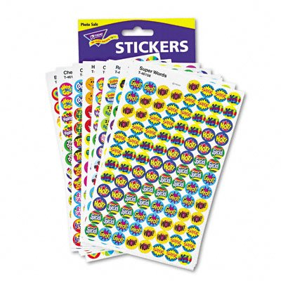 Trend T1945 SuperSpots & SuperShapes Sticker Variety Packs, Positive Praisers, 2,500/Pack (TEPT1945)