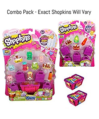 Bundle - 3 Items: Shopkins Season 2 - (1) S2 12 Pack, S2 5 Pack and (2) S2 Baskets from Moose