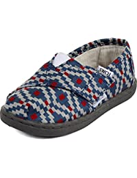 Toms Tiny Toddler Classic in Navy Diamond Woven