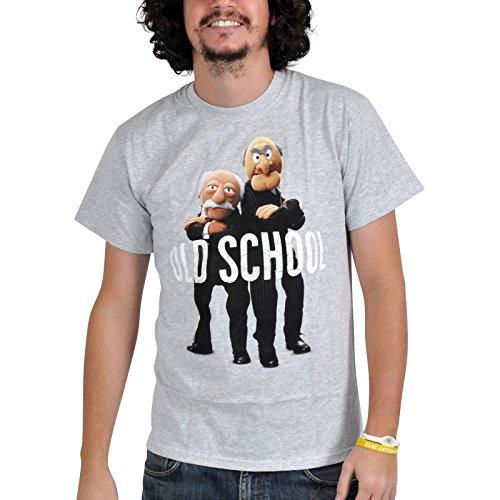 Muppets - T shirt Old School di Hilton e Waldorf - Stampa a colori - Girocollo - Grigio - XXL