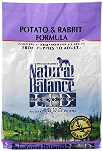 Natural Balance Dog Food Coupons >> Dick Van Patten's Natural Balance Lid Potato and Rabbit Formula Dry Dog Food, 4.5-Pound Bag: Pet ...
