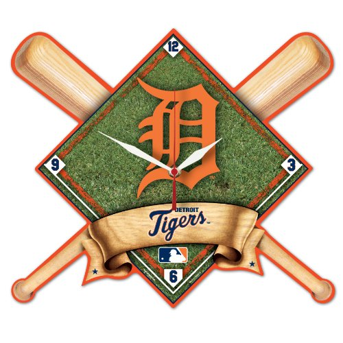 MLB Detroit Tigers High Definition Clock