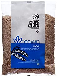 Pure & Sure Organic Semi Polished Rice, 1kg