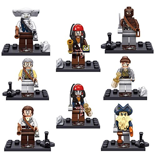 [PIRATES OF THE CARRIBRAN MINIFIGURES X 8] (The Avengers 2 Scarlet Witch Costume)