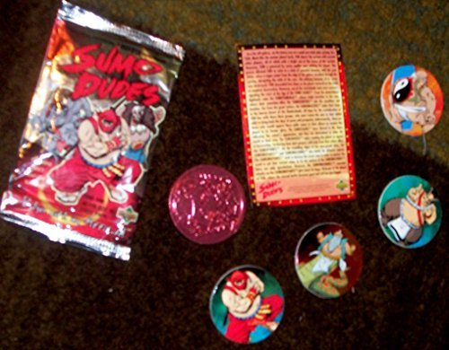 SUMO DUDES POG / DISC & CARD PACK. FIND ONE SILVER DISC & FOUR OTHER DISCS PLUS CARD IN EACH PACK. - 1