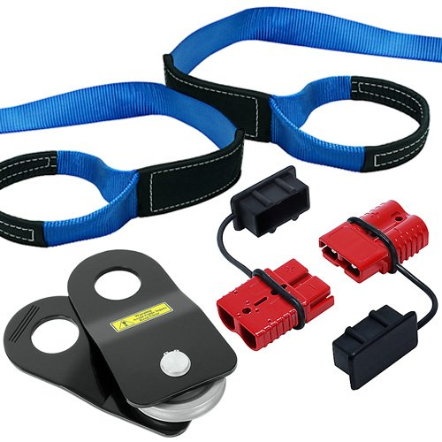 Great Features Of Recovery Winch Accessory Set with 10 Ton Snatch Block, 10' Tree Strap and Quick Co...