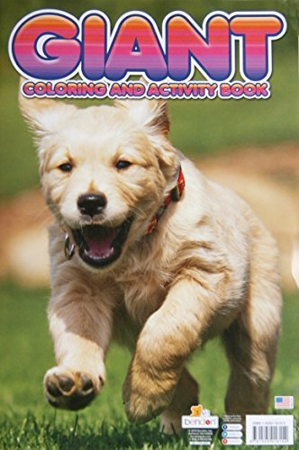 "Giant Puppies Coloring and Activity Book - 11"" x 16"" - 1"