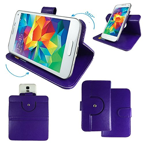 NO.1 N3 MTK6589T 5,7 Zoll IPS Smartphone Tasche / Schutzhülle mit 360° Dreh und Standfunktion - 360 Rot Nano XL