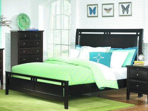 Verano California King Bed By Home Elegance In Espresso front-625014