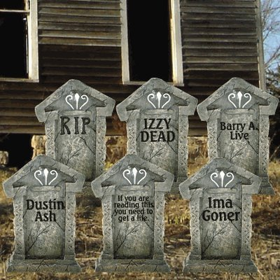 halloween yard decoration scary cemetery infobarrel. Black Bedroom Furniture Sets. Home Design Ideas