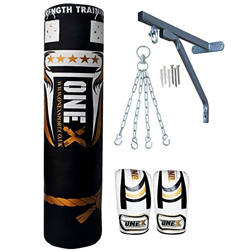 new-9-pieces-heavy-filled-boxing-set-5ft-punch-bag-gloves-wall-bracket-chain-mma-punching-training-w