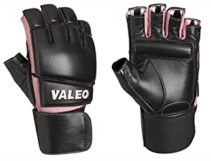 Valeo GLBW Women's Leather Bag Gloves with Wrist Wraps (Small)
