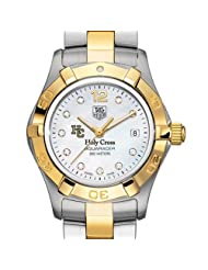Holy Cross TAG Heuer Watch - Women's Two-Tone Aquaracer Watch with Diamond Dial