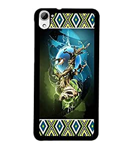 PrintDhaba Abstract Image D-4132 Back Case Cover for HTC DESIRE 826 (Multi-Coloured)
