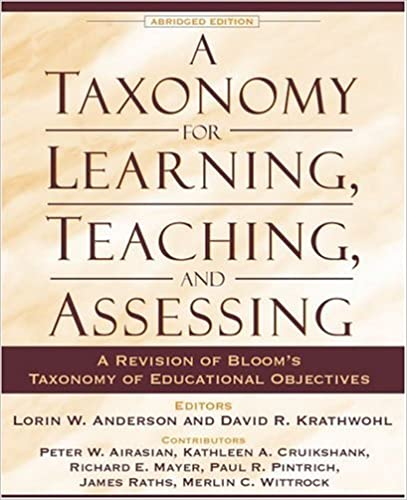 Bloom Taxonomy 1994 of Bloom's Taxonomy of