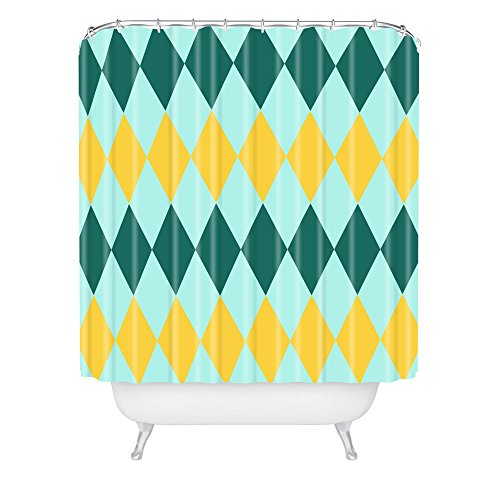 Deny Designs Hello Twiggs Pineapple Shower Curtain front-386158
