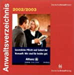 Anwaltsverzeichnis 2002/2003. CD-ROM