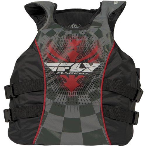 Fly Racing Pullover Adult Water Sports Watercraft Vest - Color: Red/Black, Size: Medium