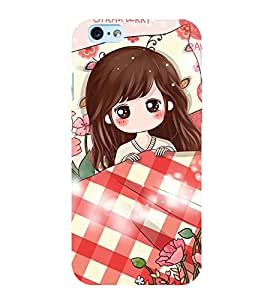 ANIMATED GIRL SURROUNDED BY FLOWERS 3D Hard Polycarbonate Designer Back Case Cover for Apple iPhone 6SPlus