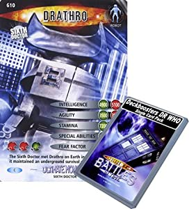 Doctor Who - Single Card : Ultimate Monsters 010 (610) Drathro Dr Who Battles in Time Common Card