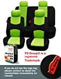 FH-FB050114 Flat Cloth Car Seat Covers Green / Black Color