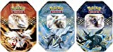 Pokemon Black & White - 2012 Collectors Tin Set - Set of 3 (Reshiram, Zekrom & Kyurem)