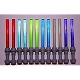 Lego Lightsaber Lot Of 12 ~ 6 Different Colors ~ 2 Red, 2 Light Blue, 2 Cobolt Blue, 2 Dark Purple, 2 Bright Green...