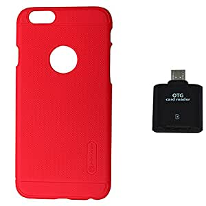 Nillkin Super Frosted Shield Back Case Cover For Iphone 6PLUS with OTG Reader - RED