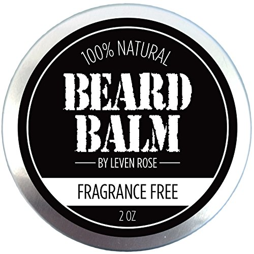 ALL NATURAL Beard Balm - BEST Leven Rose Beard Balm - 100% Natural Leave In Conditioner with Natural Oils for Moustache Grooming and Beard Growing for Men - Fragrance Free Best Beard Oil Balm Unscented - 2 (Men Moustache)