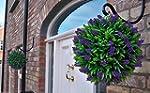 2 Best Artificial 30cm Purple Lush La...