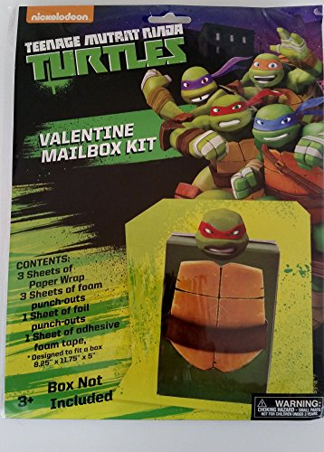 Teenage Mutant Ninja Turtles Valentine Mail Box Kit Mail Box NOT INCLUDED