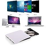 ポータブルドライブ VersionTech USB3.0 DVD+/-RW CD-RW 外付けドライブ スーパードライブ for Apple MacBook Air Macbook Pro Ultrabook Netbook PC用 ウルトラスリム