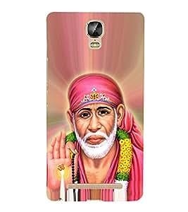 OM Shri Sai Jeevadhaaraya Cute Fashion 3D Hard Polycarbonate Designer Back Case Cover for Gionee Marathon M5 Plus