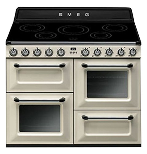 Smeg TR4110IP cuisinière - fours et cuisinières (Autonome, Electrique, Induction, 50 - 260 °C, A, Noir, Crème)