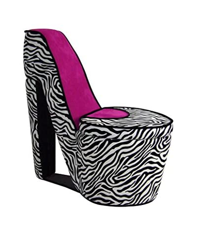 ORE International High Heel Storage Chair, Pink