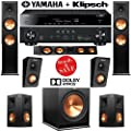 Klipsch RP-280F 5.1.2 Dolby Atmos Home Theater System with Yamaha RX-V681BL 7.2-Ch Network A/V Receiver by Klipsch