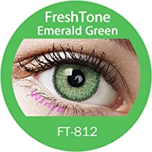 Lente de contacto de color Emerald Green 3tons 12meses sin Correction