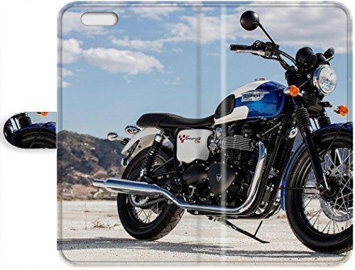 Lovers Gifts New Style Triumph Bonneville T214 2015 iPhone 7 On Your Style Birthday Gift Cover Leather Case