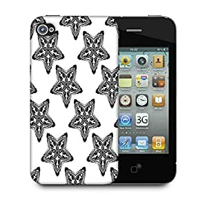 Snoogg Black Starfish Designer Protective Phone Back Case Cover For Apple Iphone 4