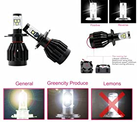 80w 8000lm Cree H/l H4 9003 Hb2 High-low Led Headlight Kit Bulb Replace HID