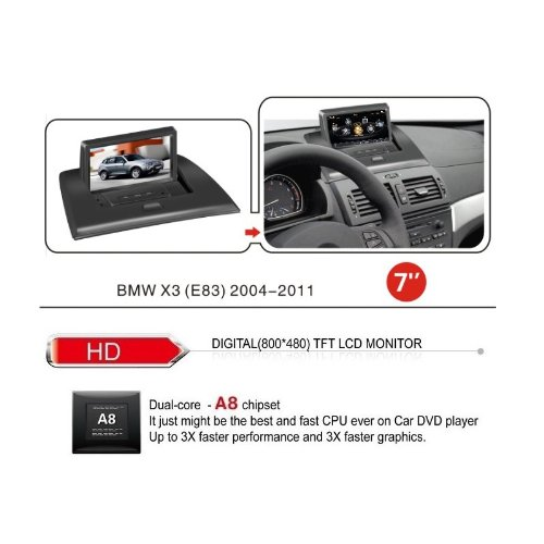 realmedia bmw x3 e83 oem digital touch screen car. Black Bedroom Furniture Sets. Home Design Ideas