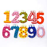 HappyToy Colourful Wooden Magnetism Number, Education Appliance & Home Decor, A Set of 10by HappyToy