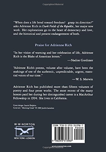 necessities of life by adrienne rich Timeline for adrienne rich  1966 published necessities of life: poems 1962-1965 family moved to new york city 1967 published.