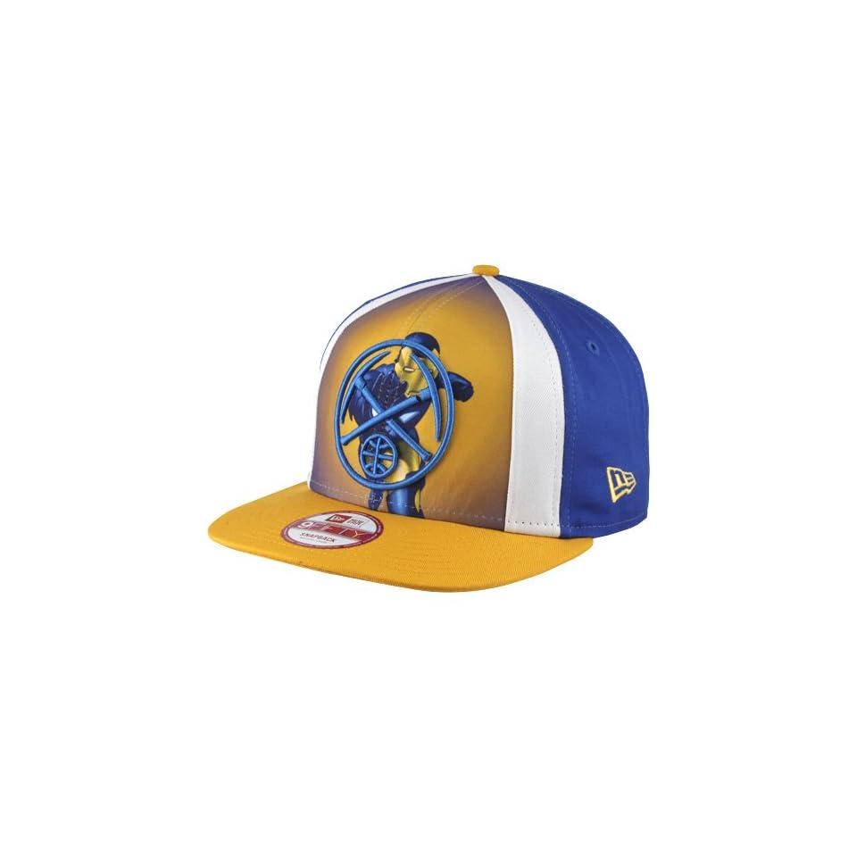 outlet store aaf09 2a7db NBA New Era Denver Nuggets Marvel Hero 9FIFTY Snapback Hat Royal Blue Gold