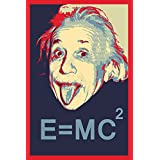Albert Einstein Funny Poster For Office And Kids Room - 100yellow