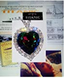 Swarovski Crystal Titanic Necklace with Replica of 1st Class Ticket & 1st Class Menu & Self Adhesive Wine Label Props