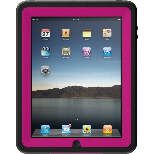 Otterbox APL2-IPAD1-B6-C4OTR iPad Defender Case (Hot Pink Plastic/Black Silicone)