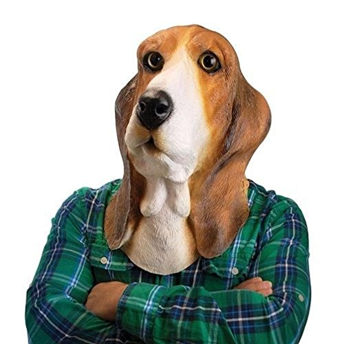 Mememall Fashion Bowser Basset Hound Dog Face Mask ~ Latex Halloween Costume - Big Mouth Toys (Big Mouth Toys The Ninja Mug compare prices)