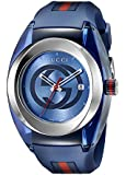 Gucci Unisex-Armbanduhr SYNC Analog Quarz Kautschuk YA137104