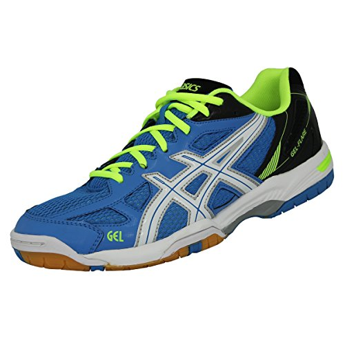 asics-gel-flare-5-men-herren-hallenschuhe-blue-white-flash-yellow-b40pq-6001-schuhgrosse425